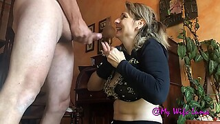 Mature maid gets her ass cracked